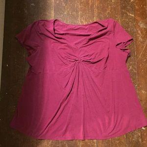 Plus size maternity shirt
